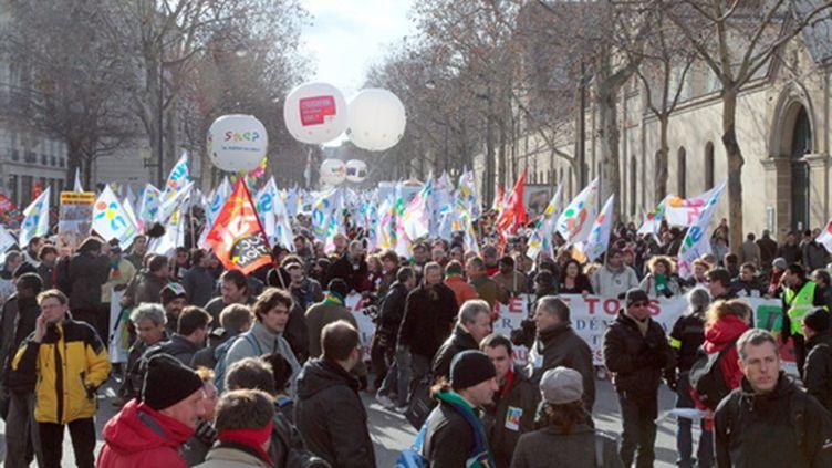 Entre 8.000 et 12.000 manifestants ont défilé samedi 30 janvier 2010 à Paris. (AFP)