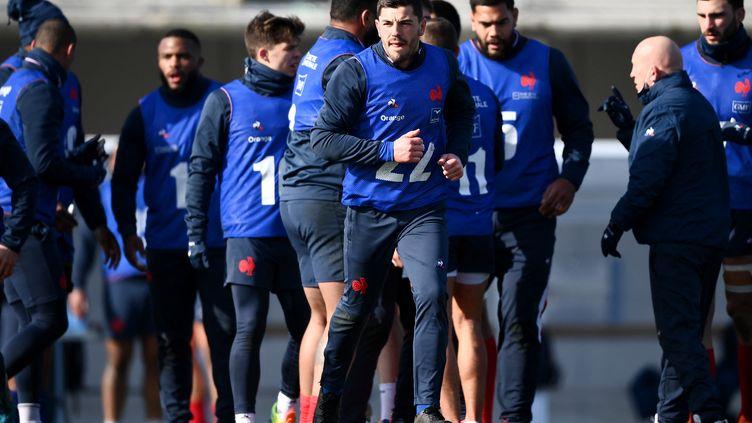 Les joueurs français lors d'un entraînement à Marcoussis, le 11 février 2021.  (FRANCK FIFE / AFP)