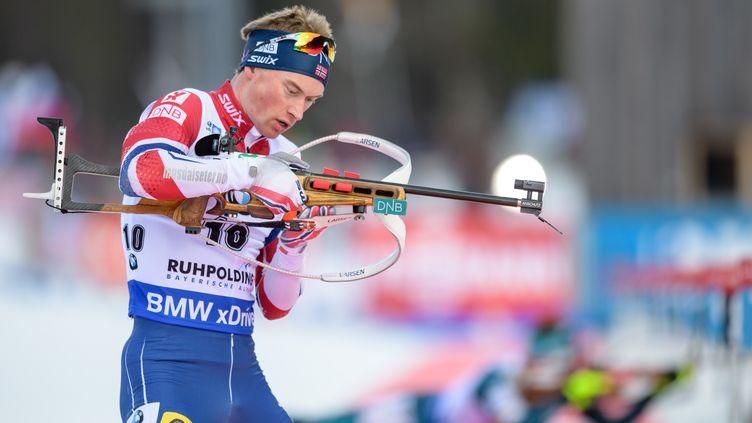 Henrik L'Abee-Lund sur le pas de tir (MATTHIAS BALK / DPA)