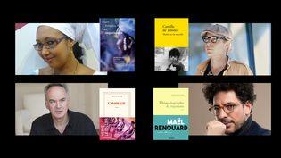 Djaïli Amadou Amal, Camille de Toledo,Maël Renouard et Hervé Le tellier, finalistes du Goncourt 2020 (franceinfo)