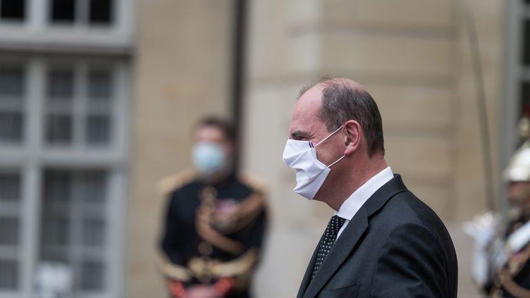 Jean Castex, à Matignon (Paris), le 24 août 2020. (NICHOLAS ORCHARD / HANS LUCAS / AFP)