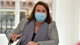 Claire Hédon, le 21 octobre 2020, à Strasbourg. (FRANCK KOBI / MAXPPP)
