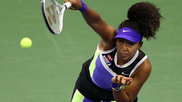 Naomi Osaka durant son quart de finale de l'US Open 2020 contre Shelby Rogers (MATTHEW STOCKMAN / GETTY IMAGES NORTH AMERICA)
