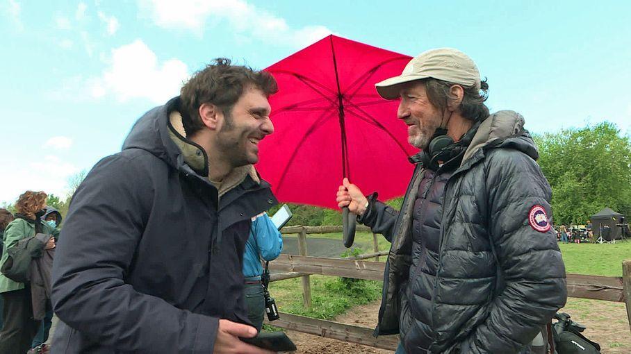 """Pio Marmaï et Carmen Kassovitz en tournage dans l'Oise pour """"Tempête"""", le nouveau film de Christian Duguay"""