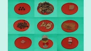 Toutes ces assiettes contiennent 200 calories (kcal). (FRANCEINFO)