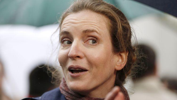 Nathalie Kosciusko-Morizet sur un marché parisien, le 26 avril 2013. (FRANCOIS GUILLOT / AFP)