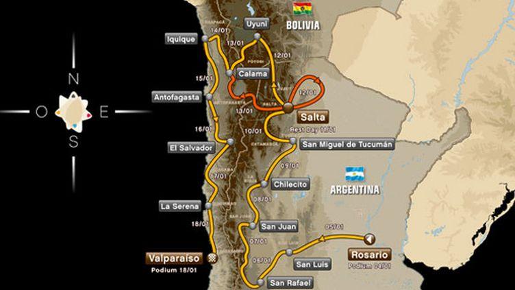 La carte du Dakar 2014