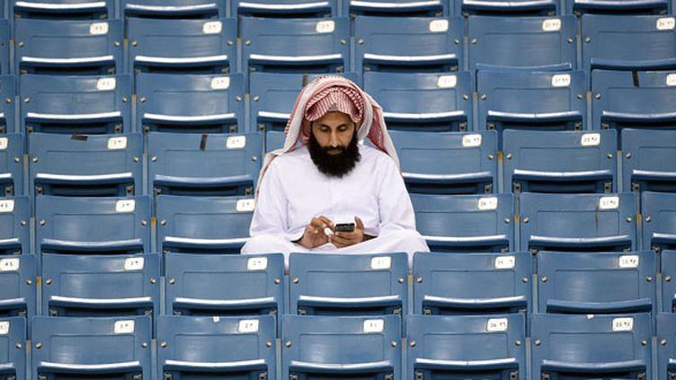 En Arabie Saoudite, les femmes ne sont pas autorisées à pénétrer dans les stades de football.  (FAYEZ NURELDINE / AFP)