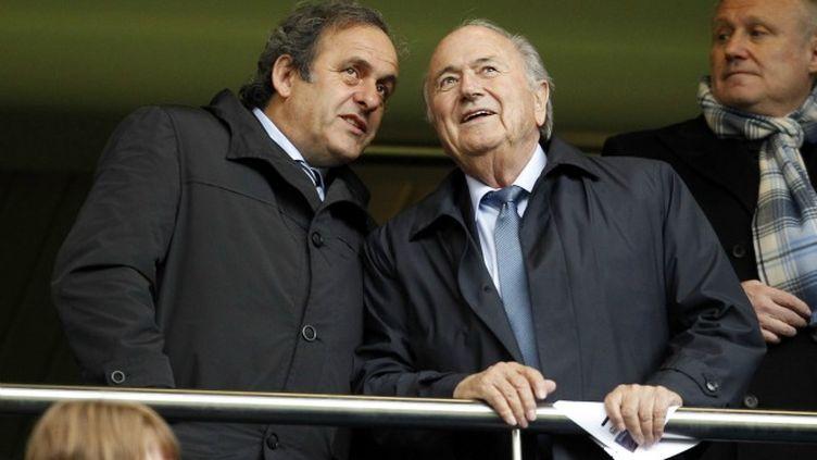 Michel Platini et Joseph Blatter
