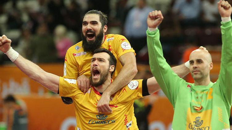 La joie des joueurs espagnols vainqueurs du Qatar