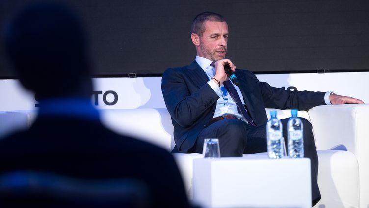 Aleksander Ceferin, le président de l'UEFA. (DAMJAN ZIBERT / NURPHOTO)