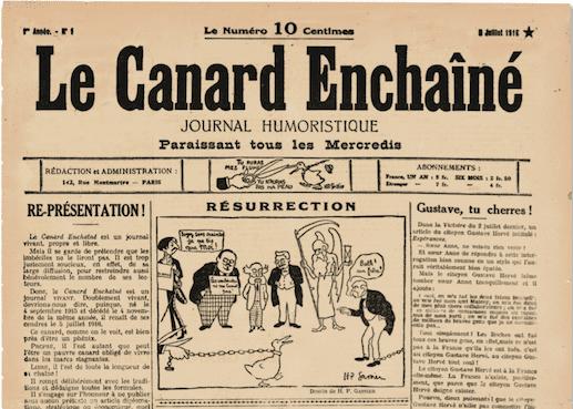 Une du Canard Enchaîné du 5 juillet 1916