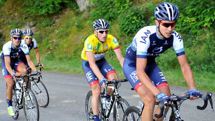 Martin Elmiger, toujours en jaune sur le Tour du Limousin