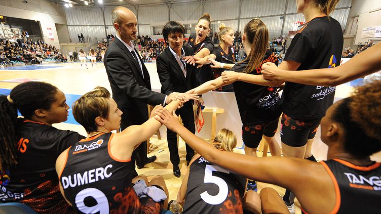 Les joueuses de Bourges visent le titre en Eurocoupe. (JEAN PAUL THOMAS / DPPI MEDIA)