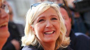 Marine Le Pen, le 8 septembre 2019 lors d'un déplacement dans le Pas-de-Calais. (THIERRY THOREL / NURPHOTO / AFP)