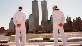 Le World Trade Center, les deux tours jumelles à New York, le 2 juin 1994. (HENNY RAY ABRAMS / AFP)