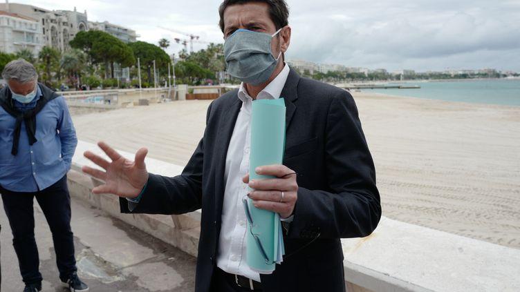 Le maire de Cannes David Lisnard, le 29 mai 2020. (VALERY HACHE / AFP)