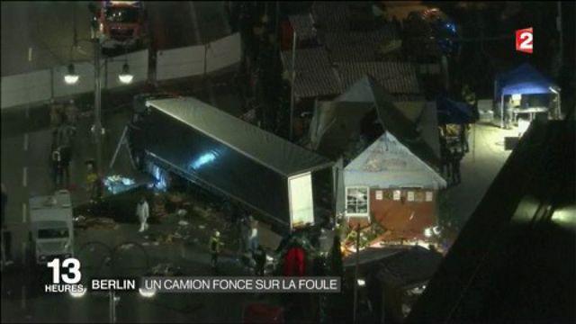 Berlin : un camion fonce sur la foule