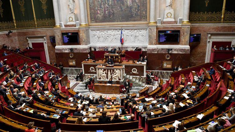 L'Assemblée nationale lors des débats sur l'immigration, le 7 octobre 2019. (ALAIN JOCARD / AFP)