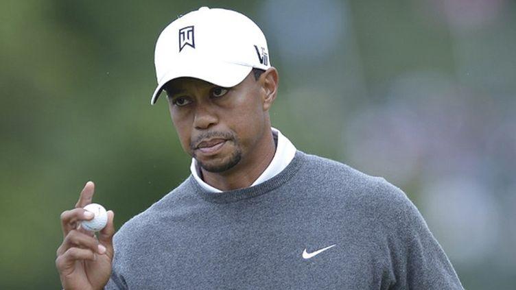 Tiger Woods grimace à l'US Open (BRENDAN SMIALOWSKI / AFP)