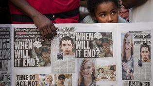 À New York, veillée pour les victimes des tueries d'El Paso et de Dayton. (DREW ANGERER / GETTY IMAGES NORTH AMERICA / AFP)