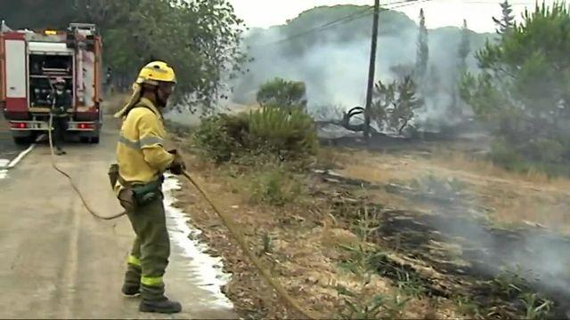 Un incendie dans un parc naturel en Espagne