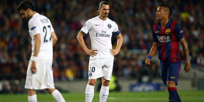 Le désarroi de Zlatan Ibrahimovic lors du match contre le FC Barcelone