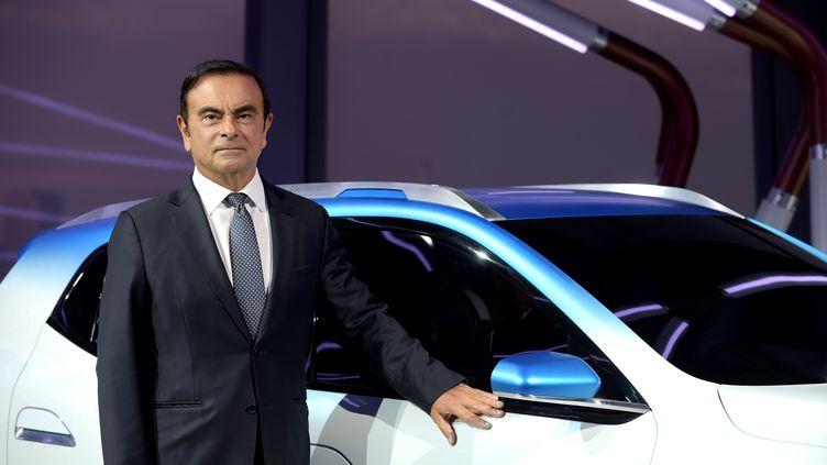 L'ancien patron de Renault-Nissan, Carlos Ghosn, le 1er octobre 2018 à Paris. (ERIC PIERMONT / AFP)