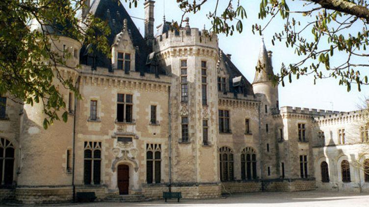 Vue de l'intérieur du château de Montaigne (1533-1592) à Saint-Michel-de-Montaigne.  (Hachedé/ AFP)