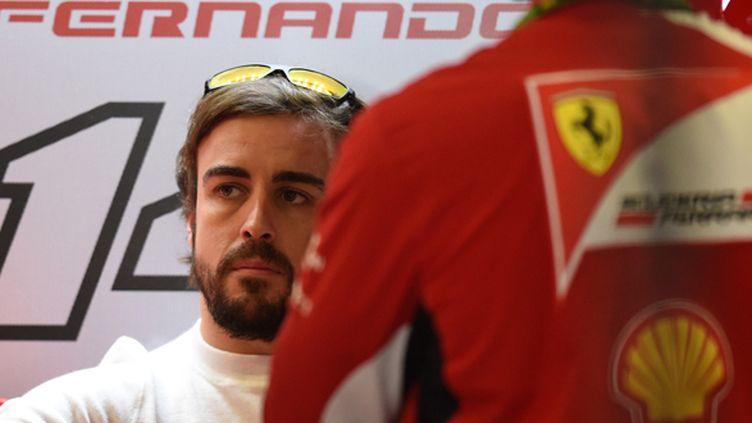 Fernando Alonso (Ferrari) touché par l'accident de Jules Bianchi (DIMITAR DILKOFF / AFP)