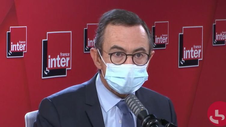 Bruno Retailleau, président du groupe LR au Sénat, le 7 octobre sur France Inter. (FRANCEINTER / RADIOFRANCE)
