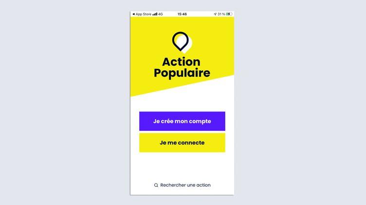 La France Insoumise lance, jeudi 22 avril, une application et une plateforme pour la campagne de l'élection présidentielle de 2022. (CAPTURE D'ÉCRAN)
