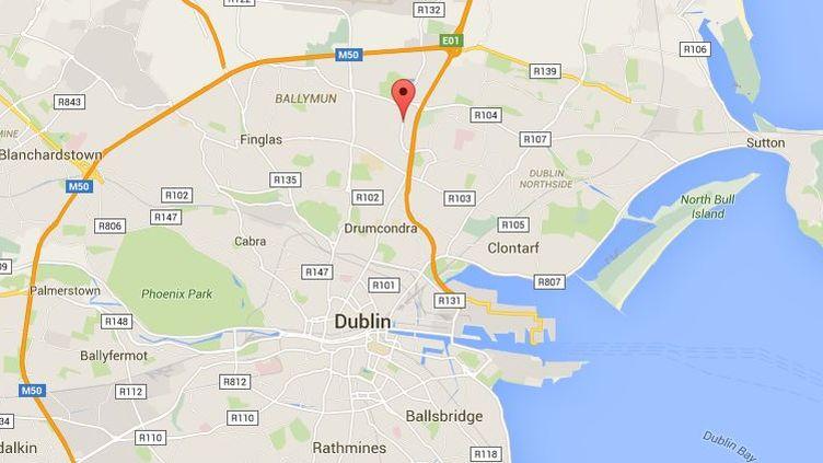 La fusillade a eu lieu surSwords Road, entreCollins Avenue etGriffith Avenue, à Dublin (Irlande), le 5 février 2016. (GOOGLE MAPS / FRANCETV INFO)
