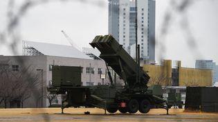 Une rampe de lancement de missiles à Tokyo (Japon), le 30 janvier 2016. (TOSHIFUMI KITAMURA / AFP)