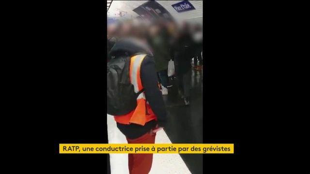 RATP : une femme prise à partie par des grévistes