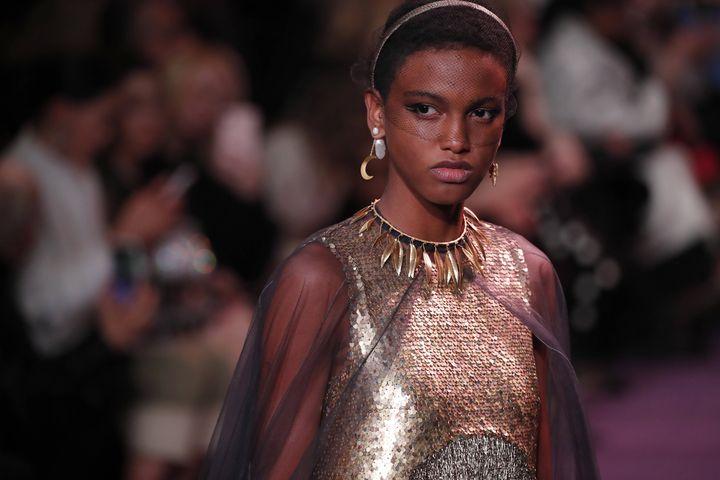 Défilé Dior haute couture printemps-été 2020, le 20 janvier 2020 dans l'enceinte du musée Rodin à Paris (FRANCOIS MORI/AP/SIPA / SIPA)