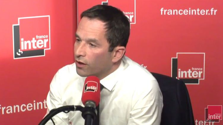 Benoît Hamon le 10 mai sur France Inter. (Radio France)