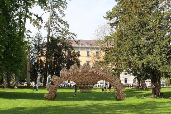 Wicker Pavilion de Didzis Jaunzems au jardin des plantes d'Annecy (DR / Annecy Paysages)