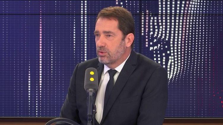 """Christophe Castaner, ministre de l'Intérieur, l'invité du """"8h30 franceinfo"""". (FRANCEINFO / RADIOFRANCE)"""