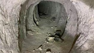 La galerie de mine découverte dans l'Oise mesure 122 mètres de long et se répartit sur 3 niveaux. (C. Jean-Pierre / FTV)