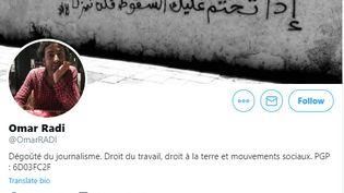 """Le journaliste marocain Omar Radi a été placé en détention pour """"outrage à magistrat"""", jeudi 26 décembre 2019. (CAPTURE D'ECRAN TWITTER)"""