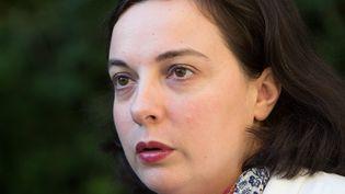 La secrétaire nationale d'Europe Ecologie-Les Verts, Emmanuelle Cosse, le 3 octobre 2014 à Amiens (Somme). (  MAXPPP)