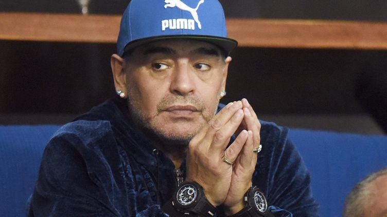 Maradona à la finale de Coupe Davis 2016 (STRINGER / AFP)