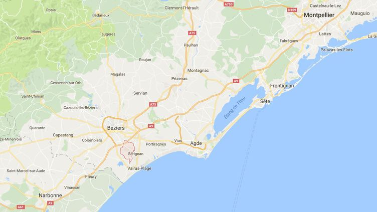 Capture d'écran de Google maps pointant Sauvian Hérault) où un garçon de 12 ans a été tué à l'arme blanche, le 24 septembre 2016. (GOOGLE MAPS)