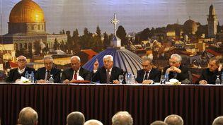 """Le président palestinien Mahmoud Abbas aconvoqué une rencontre """"d'urgence"""" mardi 28 janvier à Ramallahau sujet duplan de paix américain pour le Moyen-Orient.  (ABBAS MOMANI / AFP)"""