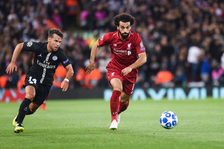Mohamed Salah, lors de Liverpool-PSG (WATTS/MERCURY PRESS/SIPA)