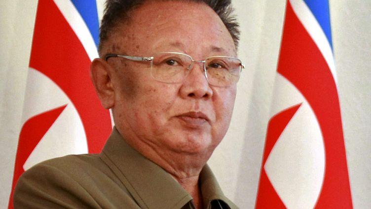 Le dirigeant nord-coréen Kim Jong-il lors d'une rencontre avec le président russe Dmitri Medvedev, le 24 août 2011 près d'Oulan-Oude (Russie). (DMITRY ASTAKHOV / AP / SIPA)