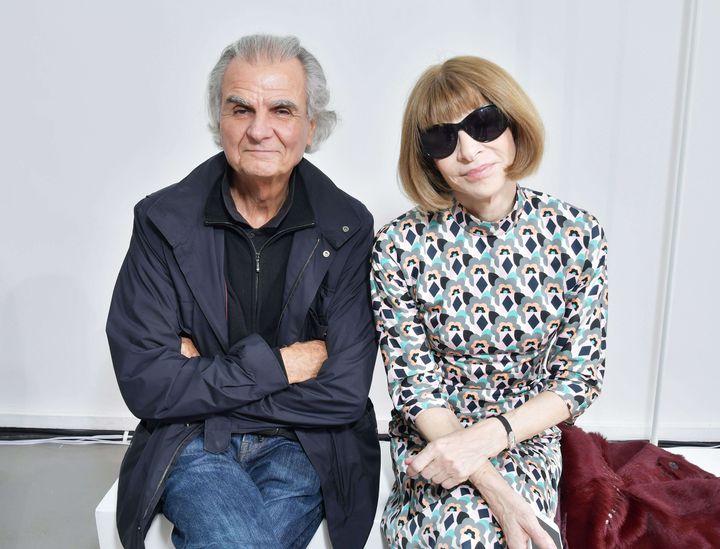Patrick Demarchelier et Anna Wintour  (Swan Gallet/WWD/Shutter/SIPA)