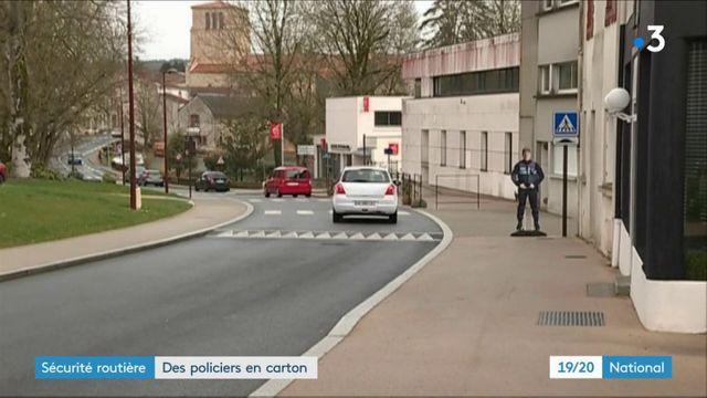 Sécurité routière : des policiers en carton