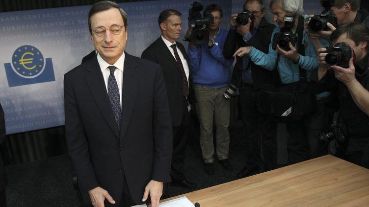 Le président de la Banque centrale européenne, Mario Draghi, à Francfort (Allemagne), le 3 novembre 2011. (ALEX DOMANSKI / REUTERS)